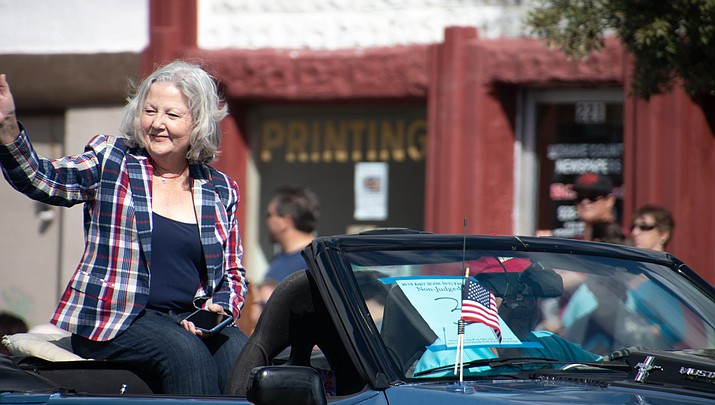 City of Kingman Mayor Jen Miles is shown at the 2019 Andy Devine Days parade. (Daily Miner file photo)