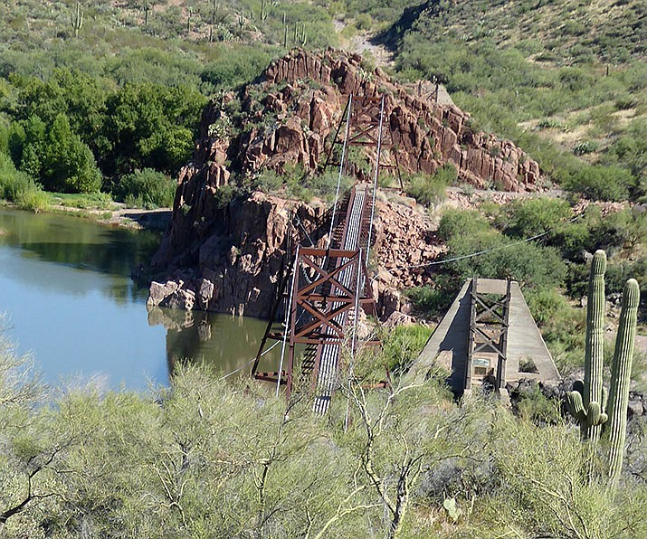 View looking down on the bridge and the Verde River. (Nigel Reynolds/Courtesy)