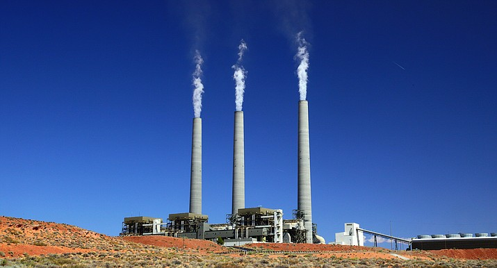 The Navajo Generating Station near Page, which burns locally mined coal, will likely shut down next week after decades of operation. The closure means the loss of hundreds of jobs the mine and power plant. (Photo by Bill Morrow)