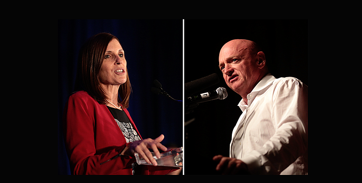 The race between freshman Sen. Martha McSally, R-Ariz., and Democratic challenger Mark Kelly is expected to be one of the most high-profile in the country. Kelly reported raising almost $14 million by October to McSally's $8.5 million. (Photos by Gage Skidmore)