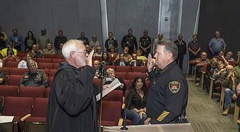 Roser sworn in as new Prescott Valley police chief photo