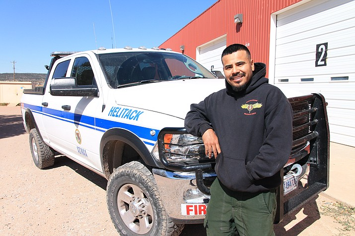 Senior Forestry Technician Forrest Towne completed his second season with the Navajo Region Helitack Crew last month. (Loretta Yerian/NHO)