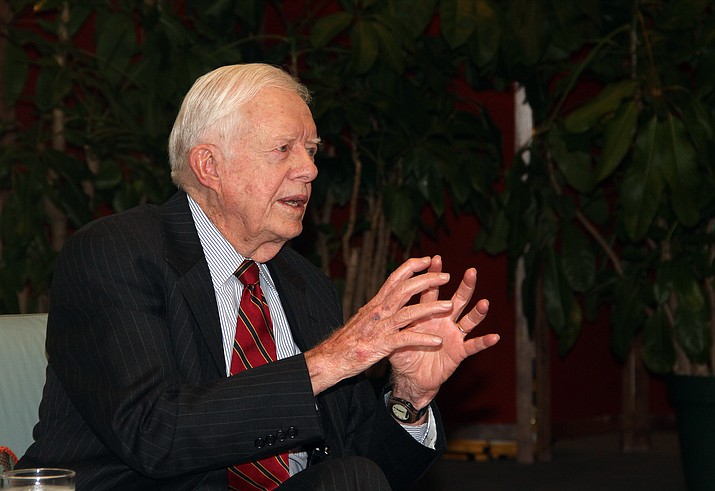 Jimmy Carter speaks in 2011. The former U.S. president is recovering from surgery to relieve pressure from bleeding on his brain. (U.S. National Archives photo)