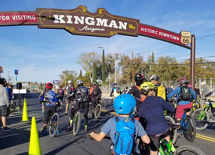 The Route 66 Rattler mountain bike race starts at Kingman Arch at Locomotive Park. (Courtesy photo)
