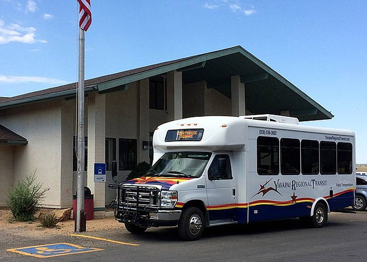 Ready to head to Prescott from the Chino Valley Community Center, Yavapai Regional Transit service has added Prescott Valley to its route on Fridays only. (Courier file)