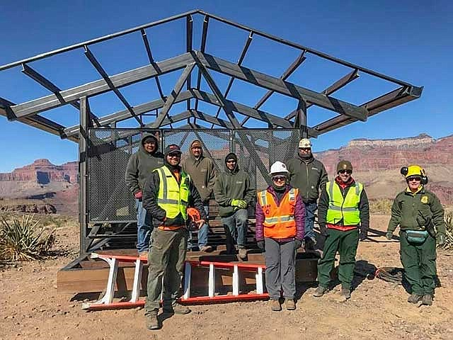 The NPS trail crew recently completed a new shelter earlier this month. (Photo courtesy of Helen Ranney)