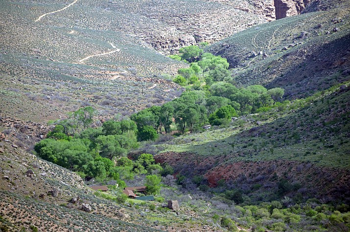 Indian Garden is locted 4.8 miles below the South Rim and has a ranger station, emergency phone, year-round potable water, toilets and a pump house. (Photo/NPS)