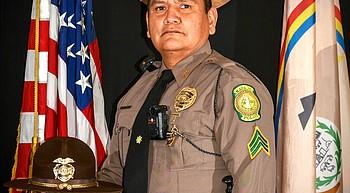 Arizona, Navajo president honor life of Navajo Police Sergeant Lamar Martin photo