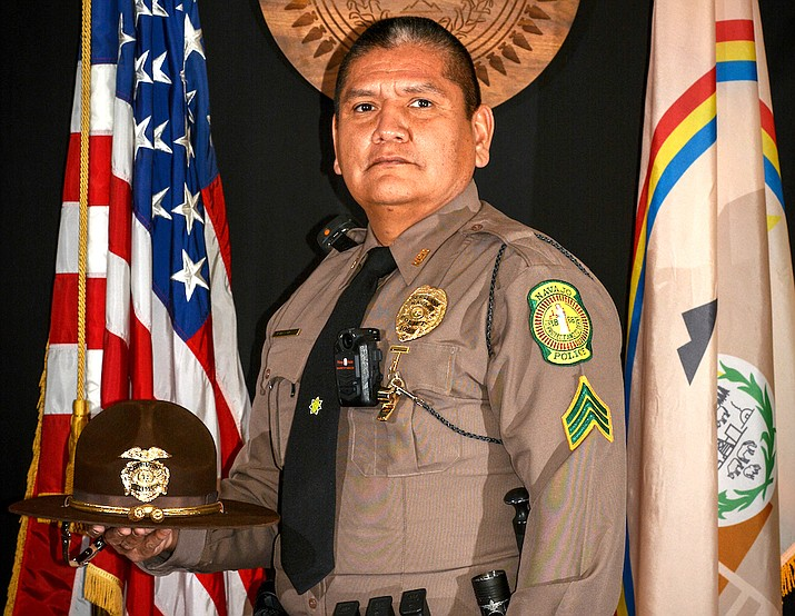 Flags across Arizona and the Navajo Nation were flown at half staff Nov. 5 to honor the life of Navajo Police Sergeant Lamar Martin. (Photo/Office of the President and Vice President)