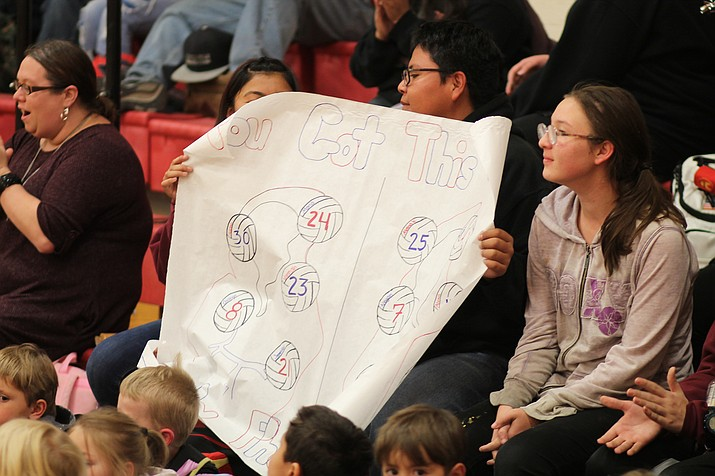 Grand Canyon students show their support for the Lady Phantoms volleyball team at a pep rally Nov. 7. (Erin Ford/WCN)