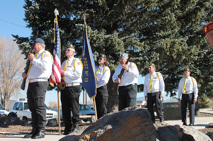Williams honored community and nationwide veterans with two ceremonies at Monument Park Nov. 11. (Erin Ford/WGCN)