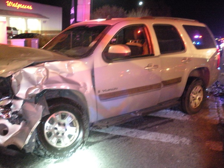 One of the three vehicles involved in a Nov. 12 collision at Highway 89 and Road 2 North in Chino Valley. (CVPD/Courtesy)