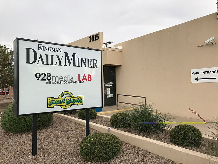 The Kingman Miner will not have a Monday or Tuesday paper on Nov. 18 and 19. The Wednesday, Nov. 20 edition starts a shift to print publication on Wednesdays, Fridays and Sundays. (Miner file photo)
