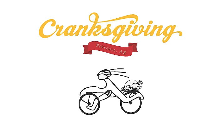 "Prescott Alternative Transportation (PAT) is hosting a fun bike-mounted food drive in Prescott. ""Cranksgiving"" riders will meet at the Prescott Unified School District, 300 E. Gurley St. at 11 a.m. on Sunday, Nov. 17. (Prescott Alternative Transportation)"