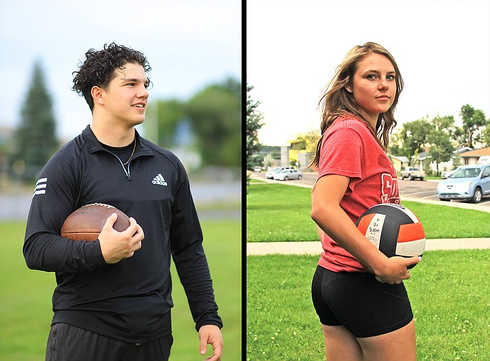 Williams Viking running back Chance Pearson was selected as the 1A North Player of the Year. Lady Vike Maegan Ford was selected as the 1A Central Defensive Player of the Year. (Wendy Howell/WGCN)