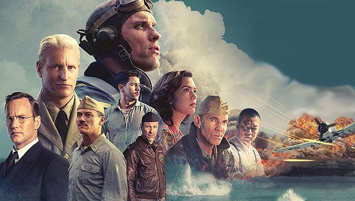 "AARP in Yavapai County is hosting a free movie screening of ""Midway"" starring Ed Skrein, Luke Evans and Aaron Eckhart with Mandy Moore, Dennis Quaid and Woody Harrelson at Harkins Prescott Valley, 7202 Pav Way at 2 p.m on Sunday, Nov. 17. (Lions Gate Entertainment)"
