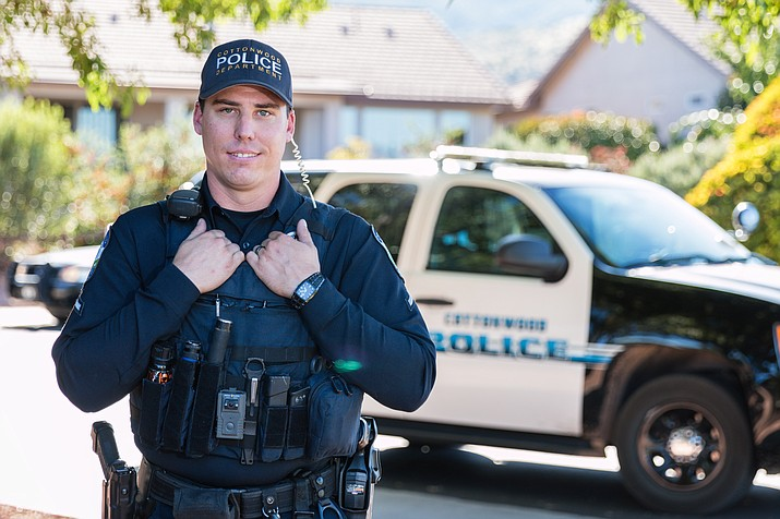 In his CW6 neighborhood patrol emphasis, Cottonwood Officer Ryan Gibson has been patrolling this area for about 10 years now and strives to be highly visible in the neighborhood four days a week. Photo courtesy Cottonwood PD