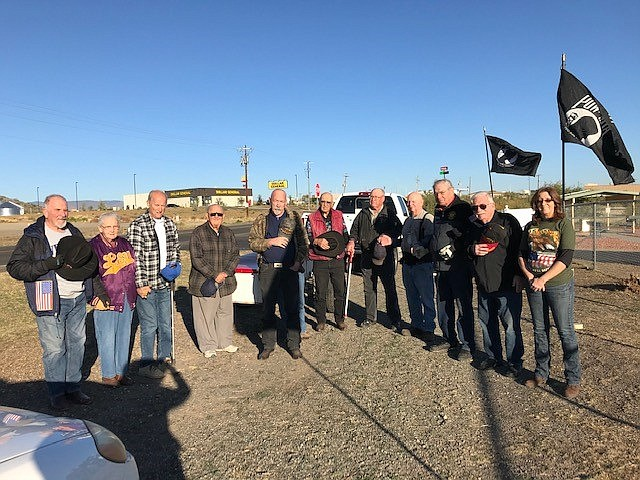 Cordes Lake residents honored our nation's veterans Nov. 11, 2019 on Avenue of the Flags in Cordes Junction. (Pat Williamson/Courtesy)