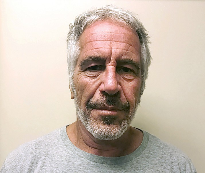 This March 28, 2017, photo, provided by the New York State Sex Offender Registry, shows Jeffrey Epstein. Federal prosecutors offered a plea deal to two correctional officers responsible for guarding Epstein on the night of his death, but the officers have declined the offer, people familiar with the matter told The Associated Press. (New York State Sex Offender Registry via AP, File)