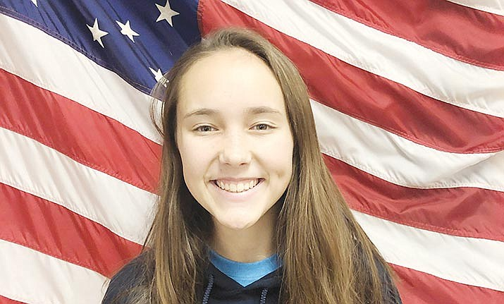 Kendall Peterson is Camp Verde High School's November Kiwanis Student of the Month. Courtesy Camp Verde Unified School District