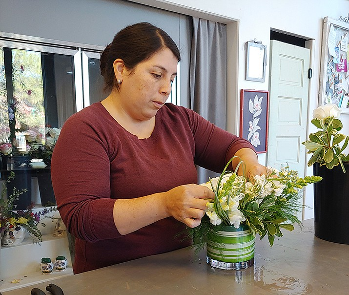Aileen Casillas of Florian Floral Design & Events will be working at the Tournament of Roses Parade. (Doug Cook/Courier)