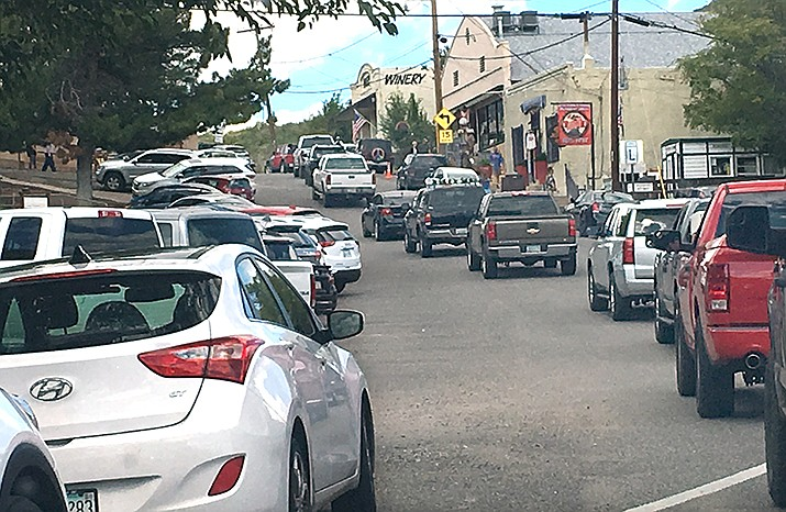 The Town of Jerome is moving forward with its plan to create a district in which businesses will be able to pay a one-time fee to acquire parking spots from the town for buildings that require on-site parking. VVN/Vyto Starinskas