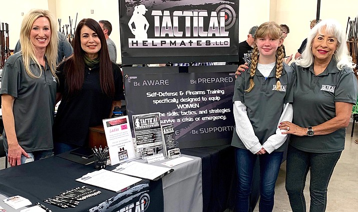 Tactical Helpmates provides self-defense and firearm training classes for women. From left, Corina Taylor, instructor/owner Tammy Mitchell, Ashley Stewart and Christina Orcutt. Call 928-649-1231 for more information. Courtesy photo