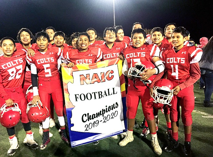 The Kayenta Middle School Colts won the NAIC Football Championship defeating the Tséhootsooí Middle School Scouts Nov. 7 in Kayenta, Arizona. (Submitted photo)