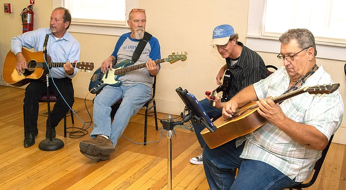 The Winslow Historical Society's annual meeting was held Nov. 10 with music by the 'Way Better Than Nothing' band. (Todd Roth/NHO)