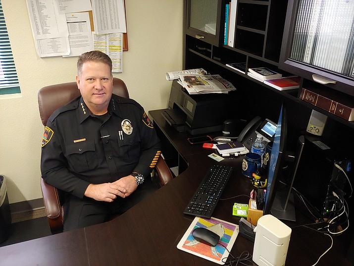 Prescott Valley Police Chief Steven Roser was sworn in Nov. 7. (Doug Cook/Tribune)