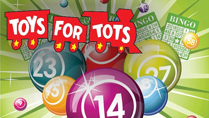 Come out for a fun night of Toys for Tots Bingo hosted by the Kingman Golden Valley Association of Realtors at Diana's Cellar Door Wine Bar, 414 Beale St. in Kingman on Tuesday, Nov. 19. (Monica Brabant/WNI Photo Illustration)
