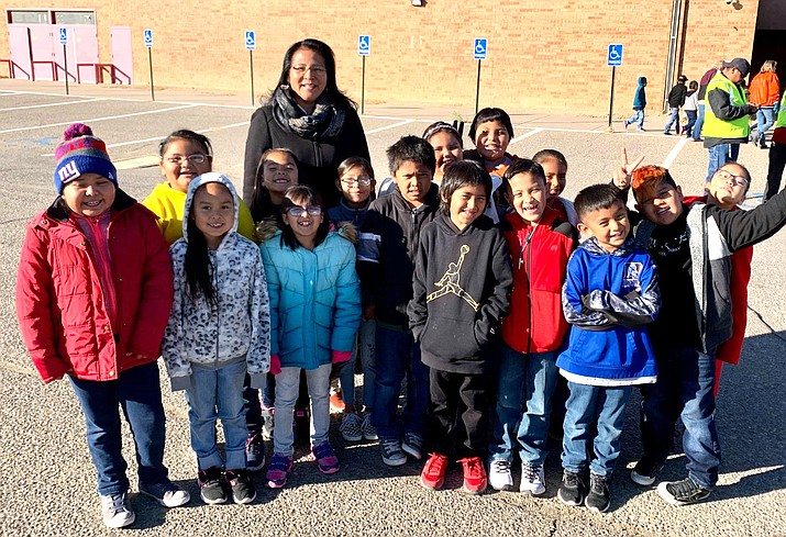 On Nov. 13, Navajo Nation Second Lady Dottie Lizer had the opportunity to attend the U.S. Capitol Christmas Tree Tour as they stopped at Shiprock High School in Shiprock, New Mexico. (Photo/Office of the President and Vice President)