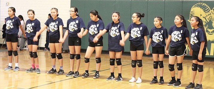 The Little Singer Lady Colts volleyball team won the Navajo-Hopi Area Junior High League championships Oct. 30. (Submitted photo)