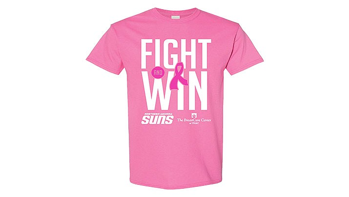 The Suns will be selling pink shirts in their team shop on Saturday, Nov. 23 with all proceeds going to the BreastCare Center at YRMC. (NAZ Suns)