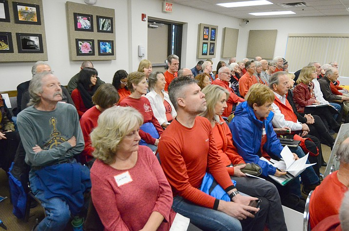 Opponents of rezoning for a Hilton Hotel project showed up to the Nov. 20 Yavapai County Board of Supervisors to reject rezoning. The Supervisors voted 5-0 to approve the re-zoning for the 154-room hotel, to be built in the Village of Oak Creek.VVN/Vyto Starinskas