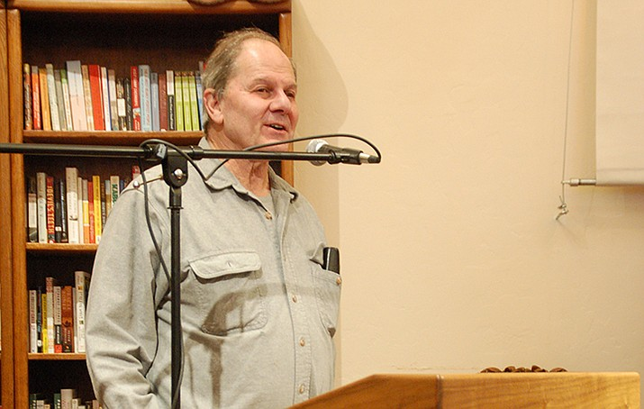 """""""Star Wars"""" novelist Alan Dean Foster answered questions and signed books at Peregrine Book Company on Saturday, Jan. 23. (Jason Wheeler/Courier)"""