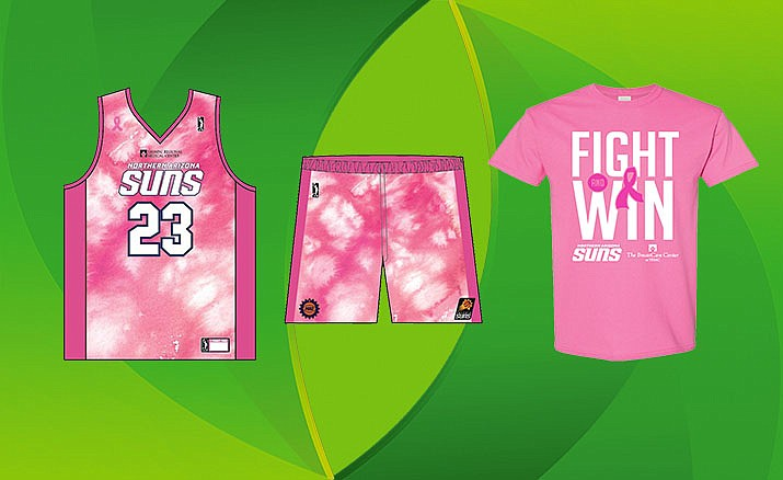 The NAZ Suns will host their annual Breast Cancer Awareness Night on Saturday and wear special pink jerseys that will be auctioned off after the game. Photo courtesy NAZ Suns