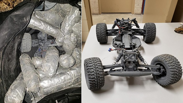 California authorities arrested a 16-year-old boy suspected of using a remote-controlled car to transport $106,000 worth of methamphetamine across the U.S.-Mexico border. The 16-year-old is a U.S. citizen. (U.S. Customs and Border Protection)