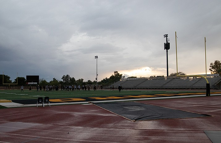 Saguaro High School was among those paying close attention to the weather with semifinal playoff games on the horizon. (Photo by Alex Simon/Cronkite News)