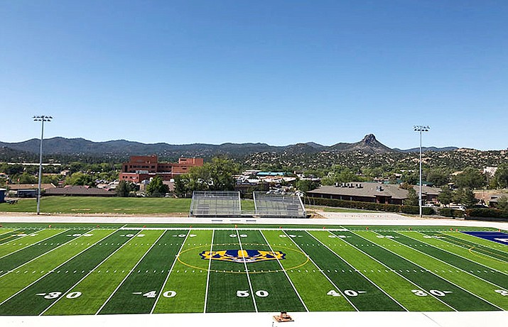 Prescott High School's newly-renovated Bill Shepard Field and McIntyre Community Track are open to the public, but school officials are asking people respect the facilities by following a number of rules. (Prescott Unified School District/Courtesy)