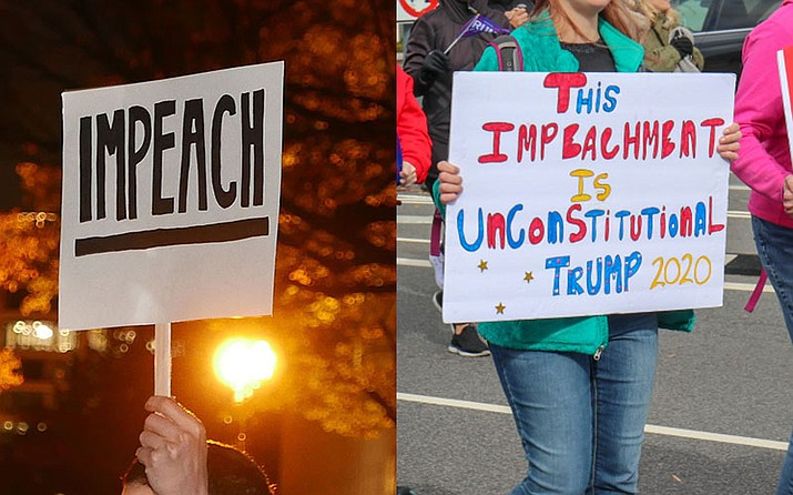 Two months of impeachment investigation, including weeks of televised testimony, does not appear to have shifted opinions of voters or lawmakers. But experts say that may change in the next round. (Photos by Photo by Susan Melkisethian and Megan U. Boyanton/Cronkite News)