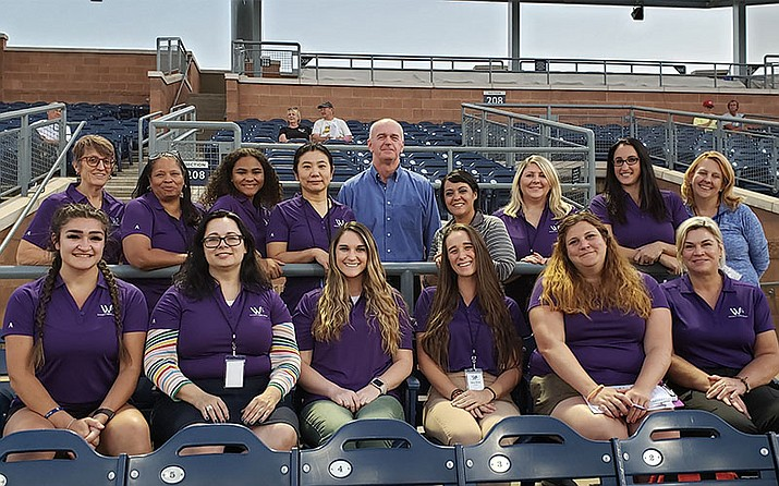 Twelve woman attended the inaugural Scouting Baseball! program, which was organized by the Women's Sports School and led by former MLB scout Don Mitchell. (Photo courtesy of Jennifer Blatt)