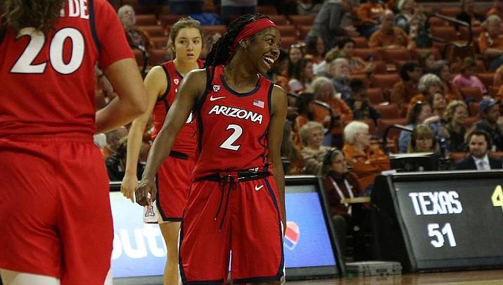 Arizona junior Aari McDonald is averaging 22.5 points and 5.2 rebounds this season. The Wildcats   host UC Riverside at 4 p.m. Friday. (Photo courtesy of Arizona Athletics)
