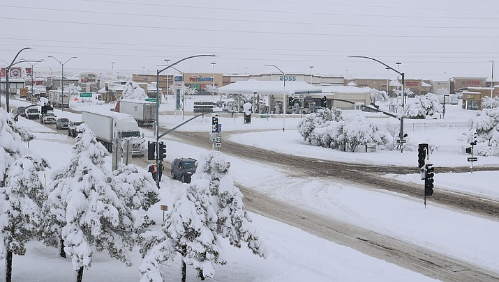 Kingman got socked with snow last winter. This winter is expected to be warmer. (Miner file photo)