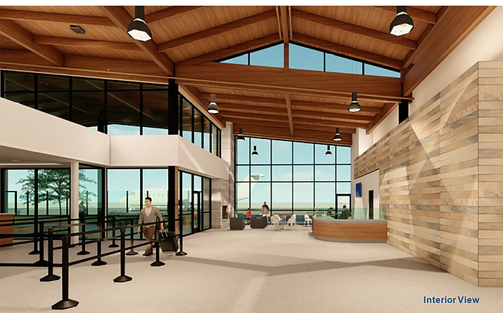 City Council is scheduled to vote today on approving the FAA grant given to start building the new terminal at the Prescott Airport. (City of Prescott/Courtesy)
