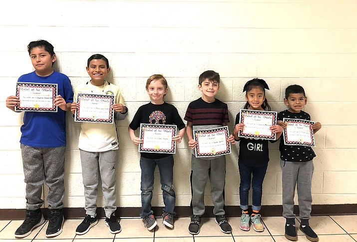 Students of the Month for November include from left: Leopoldo Salgado, Alexis Lara-Romero, Leon Hughes, Tanner Burrell, Veronica Martinez and Tavi Padilla. (Submitted photo)