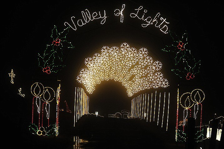 Enjoy a one mile drive through of animated and lighted displays including the popular snowflake tunnel and the western village in Prescott Valley Thursday, Nov. 28 through Monday, Dec. 30. (Courtesy, file)