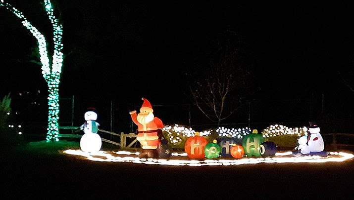 """""""Wildlights and Animal Sights"""" holiday light display will be open to the public every Friday and Saturday evening from 6 to 9 p.m. from Nov. 29 through Dec. 28 at Heritage Park Zoological Sanctuary, 1403 Heritage Park Rd. in Prescott. (Heritage Park Zoological Sanctuary)"""