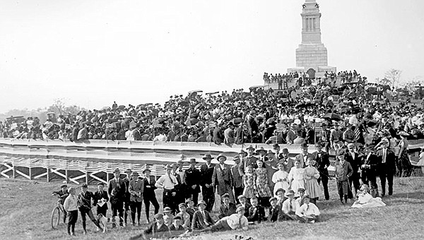 The original dedication of the Mississippi monument at Vicksburg took place Nov. 12, 1909. (Photo/NPS)