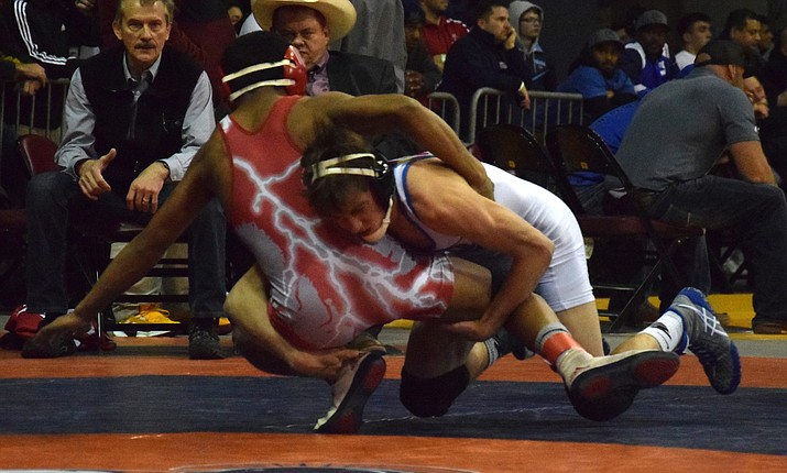 Camp Verde's Benji Perez finished fifth in the 126-pound weight class at the state meet last year. VVN/James Kelley